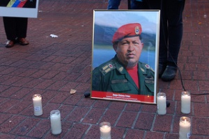 Memorial for Hugo Chavez | by Steve Rhodes | Flickr | Creative Commons