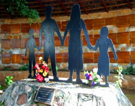 Memorial of massacre site at El Mozote, Morazan, El Salvador | By Efrojas | Wikimedia Commons | public domain