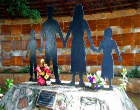 Memorial of massacre site at El Mozote, Morazan, El Salvador   By Efrojas   Wikimedia Commons   public domain
