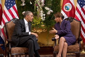 President Obama and President Chinchilla in Costa Rica | Photo by: The White House | Public domain