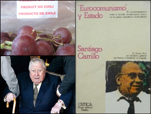 Chilean Grape export photo by Dick Howe Jr CC-BY-NC Flickr / Indictment of Pinochet, Photo by a-birdie CC-BY-NC Flickr