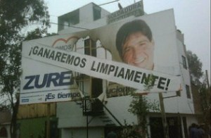 Peruvian mayoral campaign poster / Photo credit: Pedro Rivas Ugaz / Flickr / CC-BY