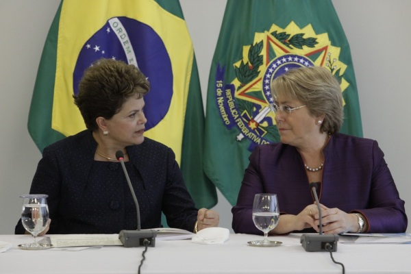 Brazilian Pres. Rousseff (l) and Chilean Pres. Bachelet. Photo Credit: UN Women / Flickr / Creative Commons