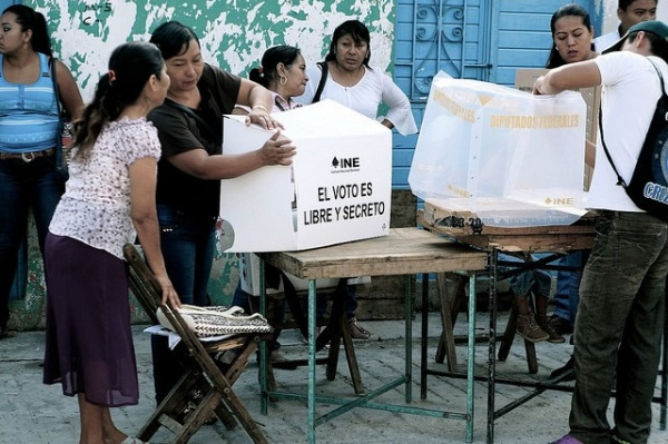 Preparing for elections in Chiapas, Mexico last week.  Photo Credit: Dimitri dF / Flickr / Creative Commons