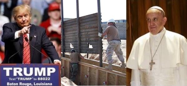 Trump Wall Pope