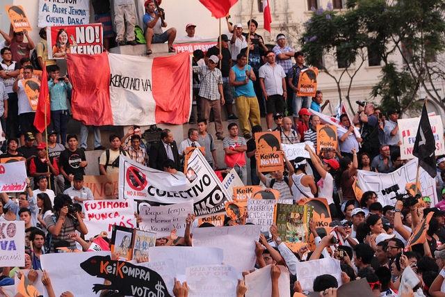 CLALS Keiko protest Peru