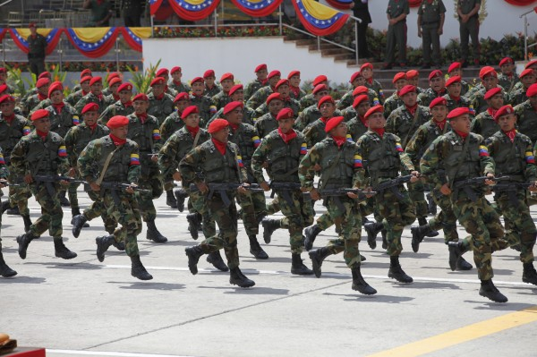 venezuelan military marching