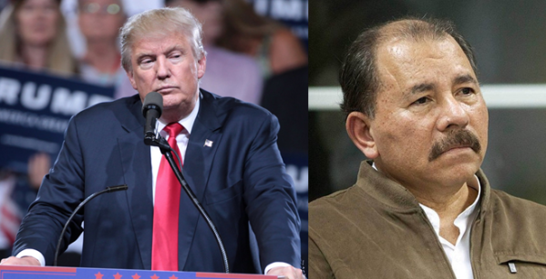 Donald Trump and Daniel Ortega