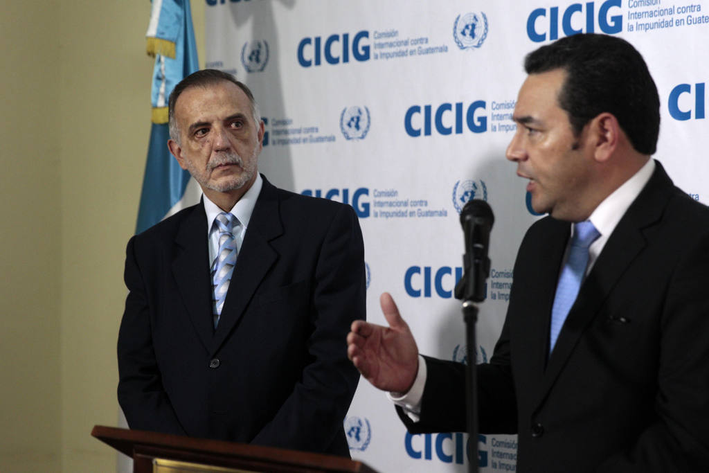 Iván Velásquez and Jimmy Morales
