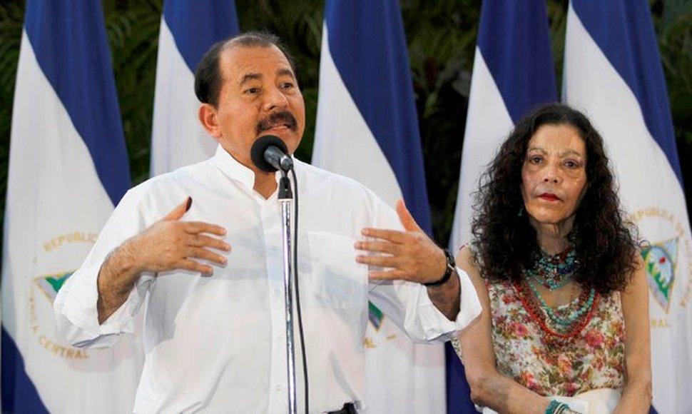 Daniel Ortega and Rosario Murillo