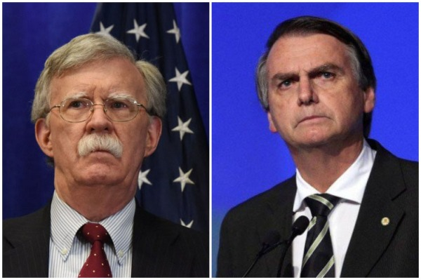 John Bolton and Jair Bolsonaro