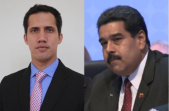 Guaidó and Maduro image