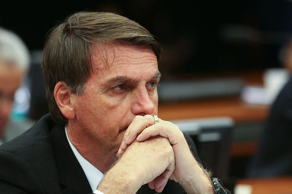 President Jair Bolsonaro of Brazil looking pensive