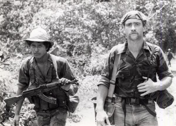 Bill on patrol with the Sandinista Army in the northern mountains of Nicaragua in the 1980s.