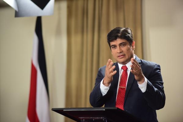 President of Costa Rica Carlos Alvarado Quesada