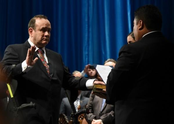 Guatemalan President Alejandro Giammattei is sworn in, January 14, 2020