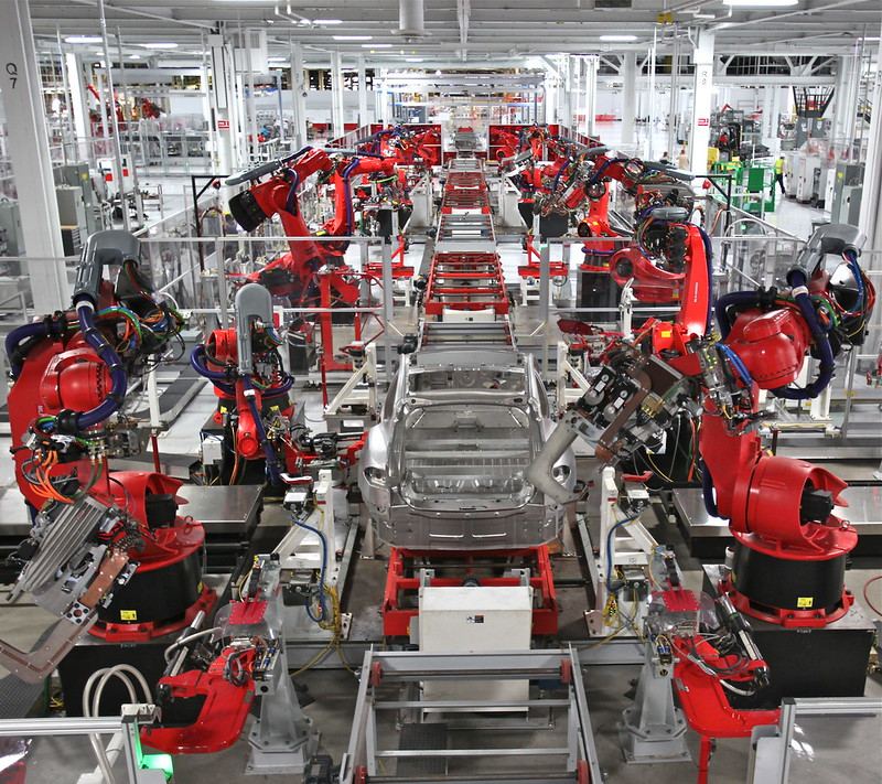 Automated manufacturing of cars