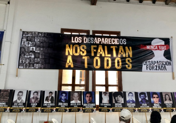 Event in Cúcuta, Colombia, hosted by Fundación Progresar and UNDP – a book release featuring stories of 100 disappeared people.