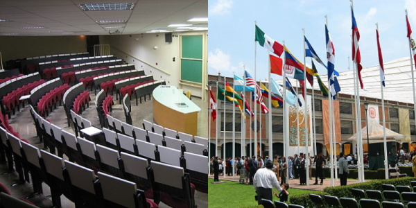 Left: Classroom in Campinas, Brazil; Right: Universidad de las Américas, Puebla Library